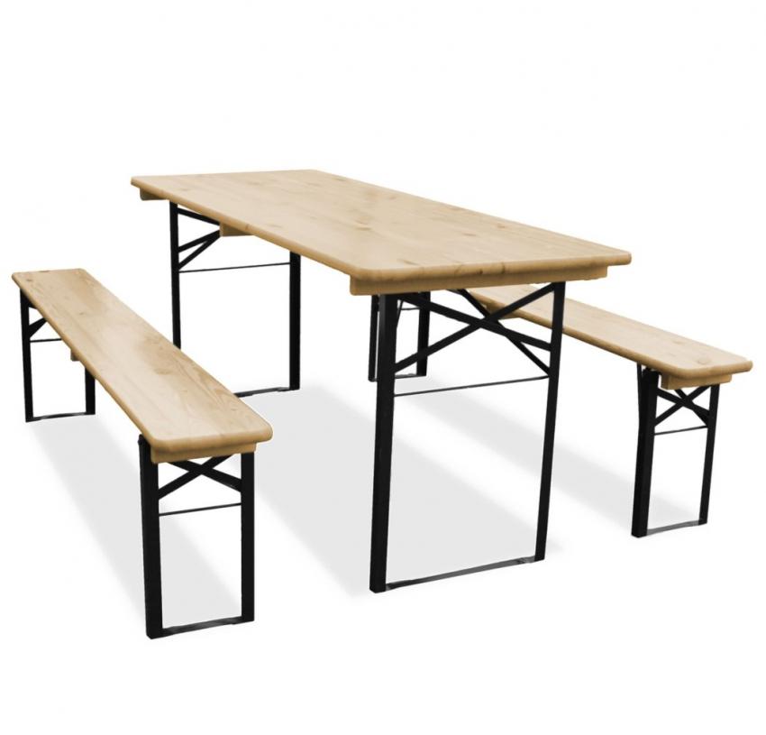 Biertafel en 2 banken 180 x 70